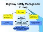 highway safety management in iowa