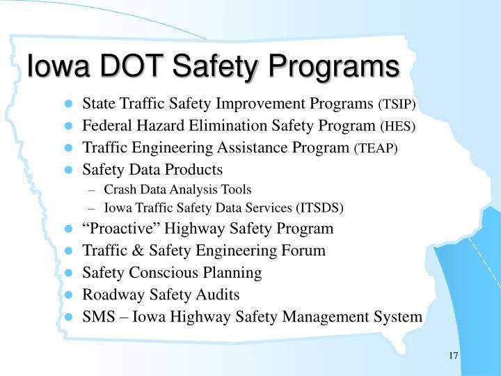 Iowa DOT Safety Programs