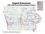 targeted enforcement 1995 1999 rural alcohol related crashes