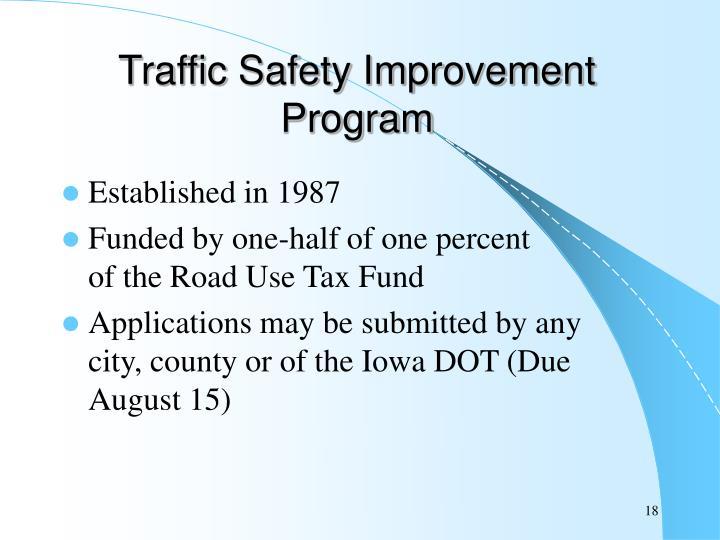 Traffic Safety Improvement Program