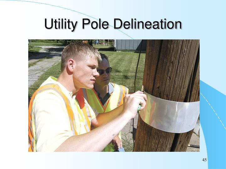 Utility Pole Delineation