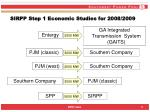 sirpp step 1 economic studies for 2008 2009