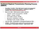 southeast regional transmission planning process sertp