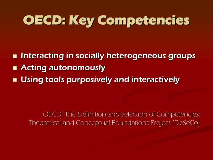 OECD: Key Competencies