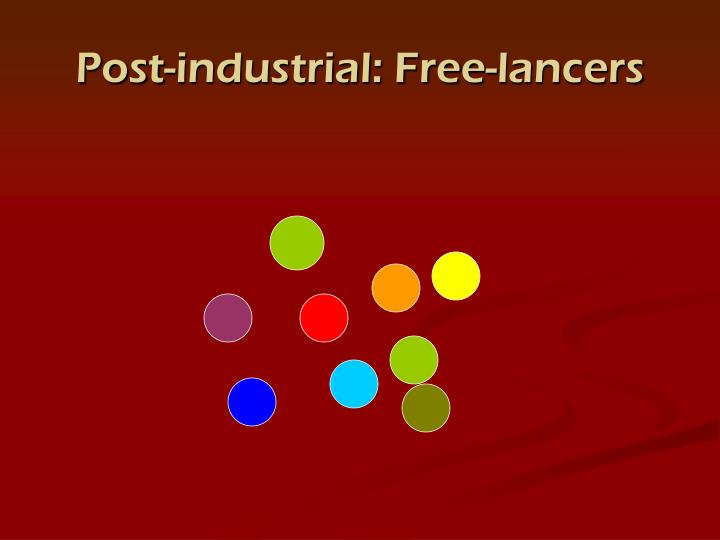 Post-industrial: Free-lancers
