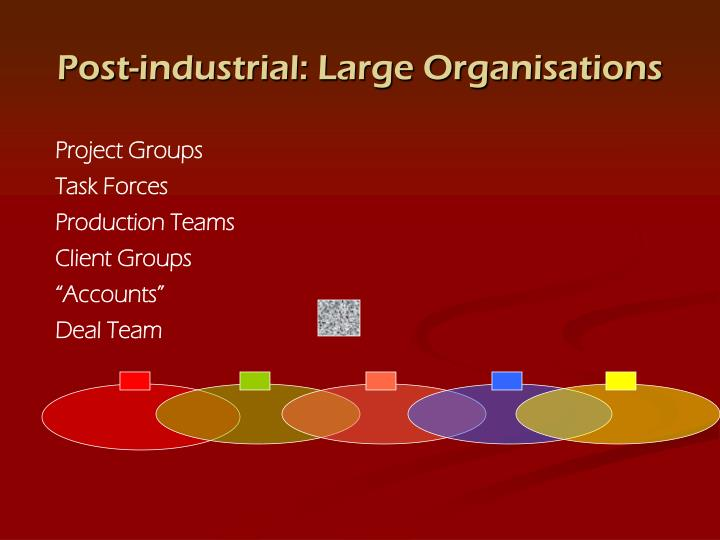 Post-industrial: Large Organisations