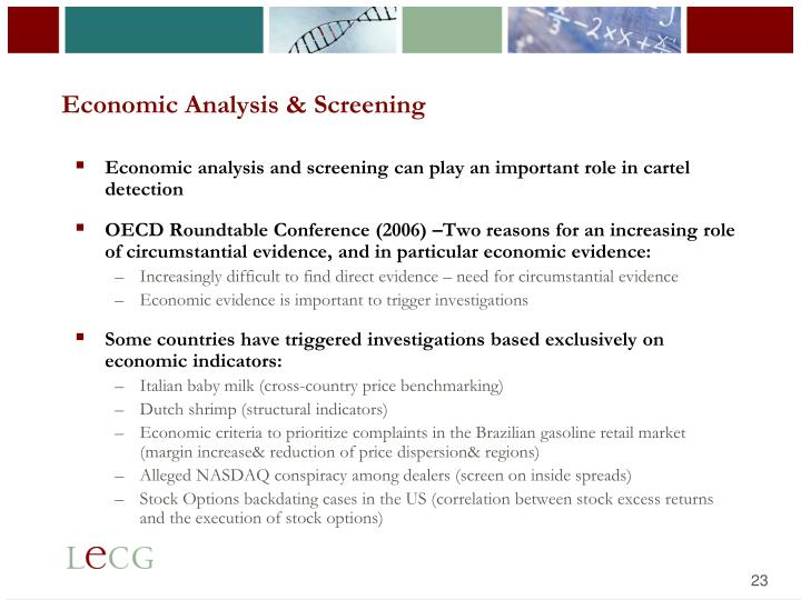 Economic Analysis & Screening
