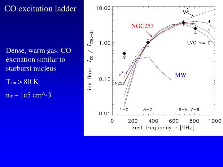 CO excitation ladder