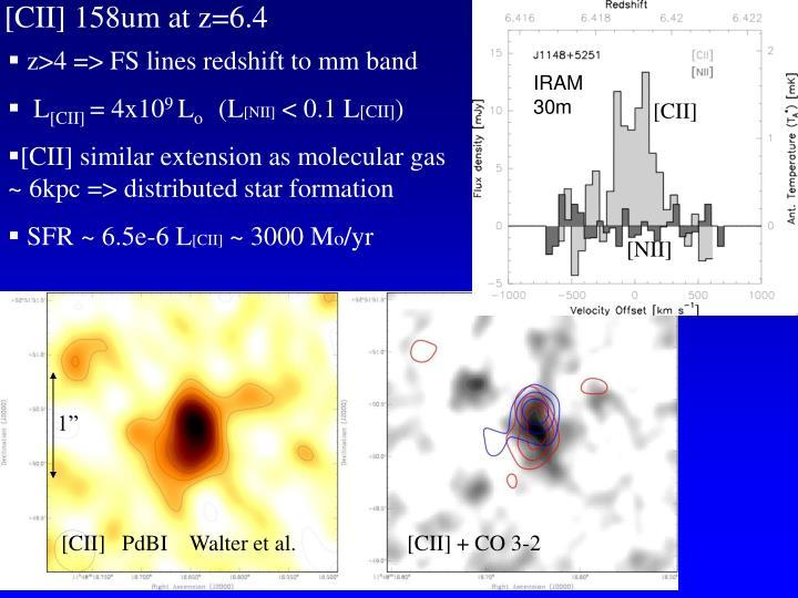 [CII] 158um at z=6.4