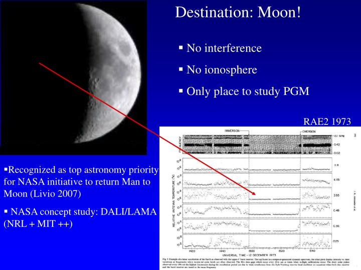 Destination: Moon!