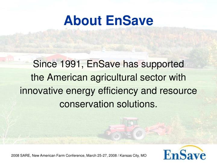 About ensave