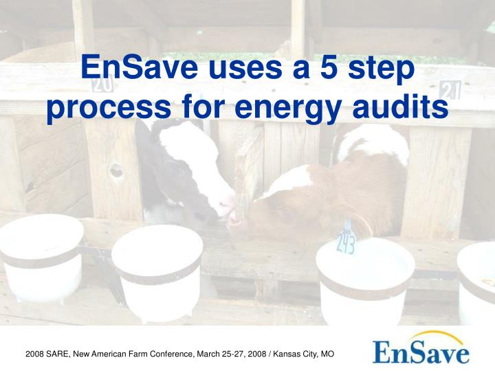 EnSave uses a 5 step process for energy audits