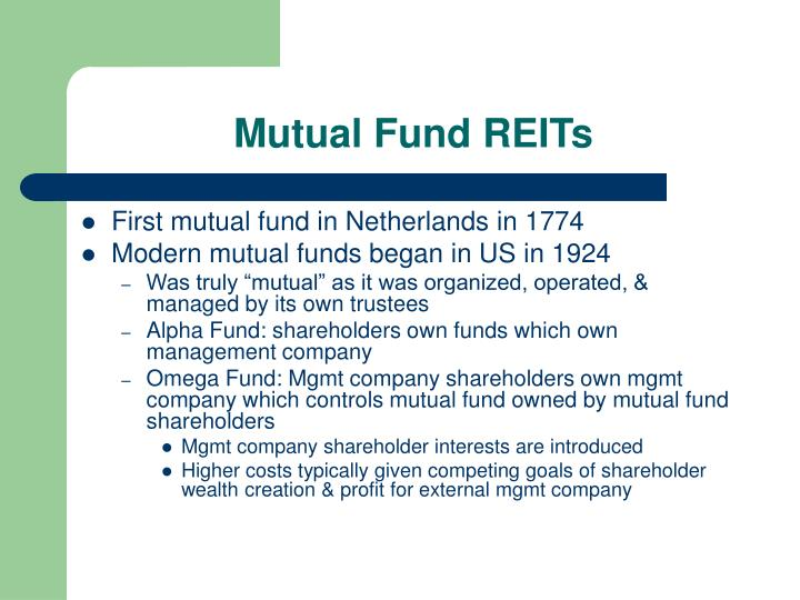 Mutual Fund REITs