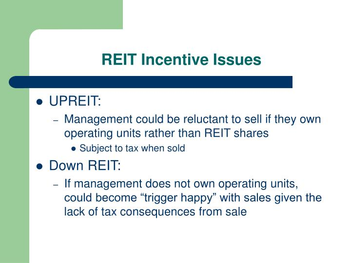REIT Incentive Issues