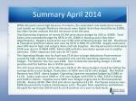 summary april 20141