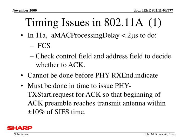 Timing Issues in 802.11A  (1)