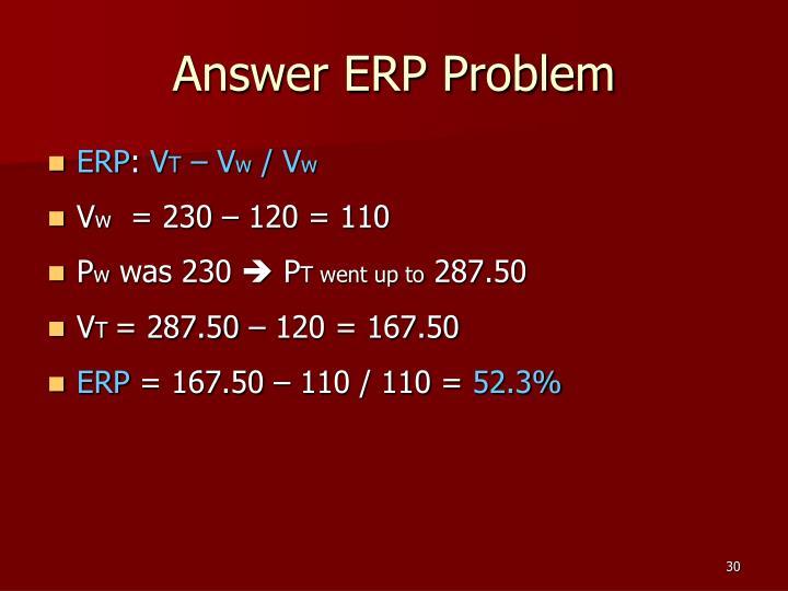 Answer ERP Problem