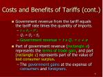 costs and benefits of tariffs cont1