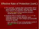 effective rate of protection cont