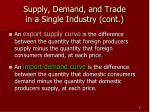 supply demand and trade in a single industry cont1