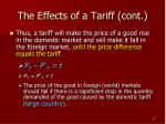 the effects of a tariff cont