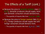 the effects of a tariff cont1