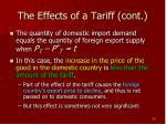 the effects of a tariff cont2