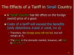 the effects of a tariff in small country1
