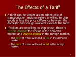 the effects of a tariff1