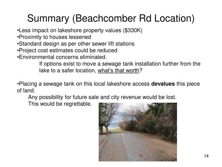 Summary (Beachcomber Rd Location)