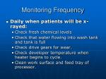 monitoring frequency