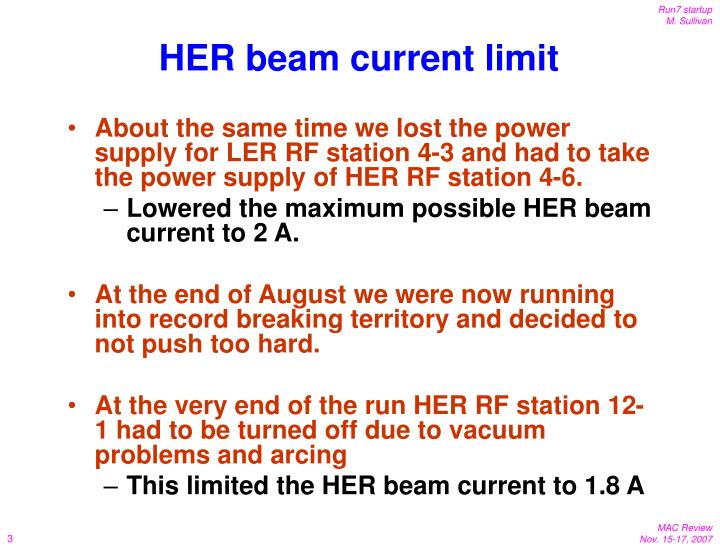 HER beam current limit