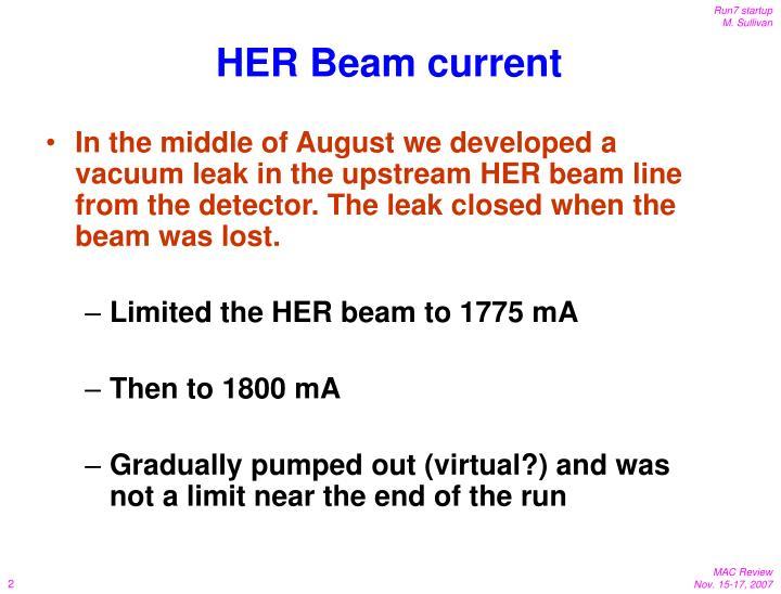 HER Beam current