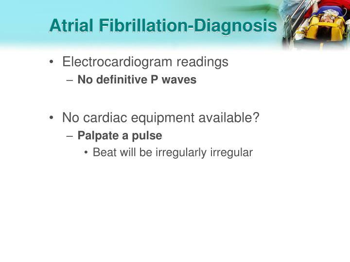 Atrial Fibrillation-Diagnosis