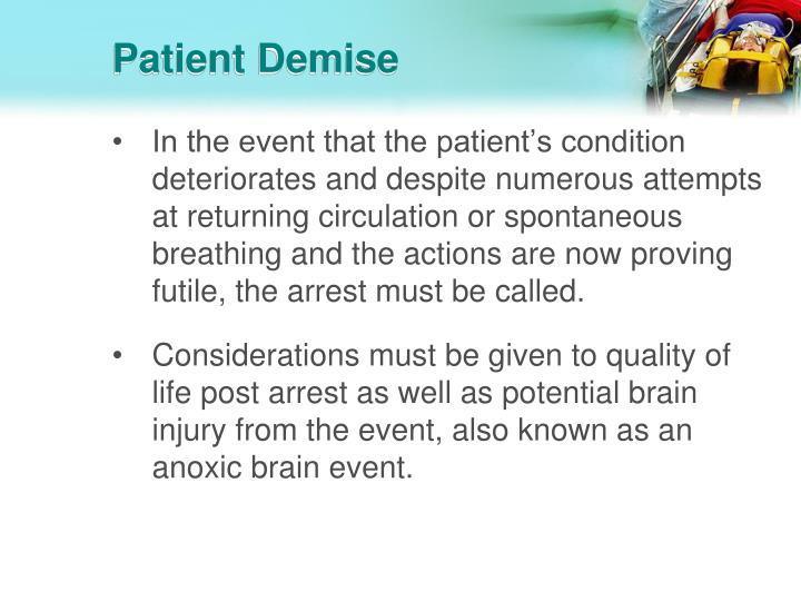 Patient Demise