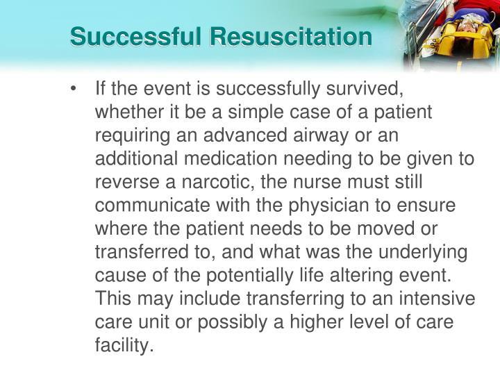 Successful Resuscitation