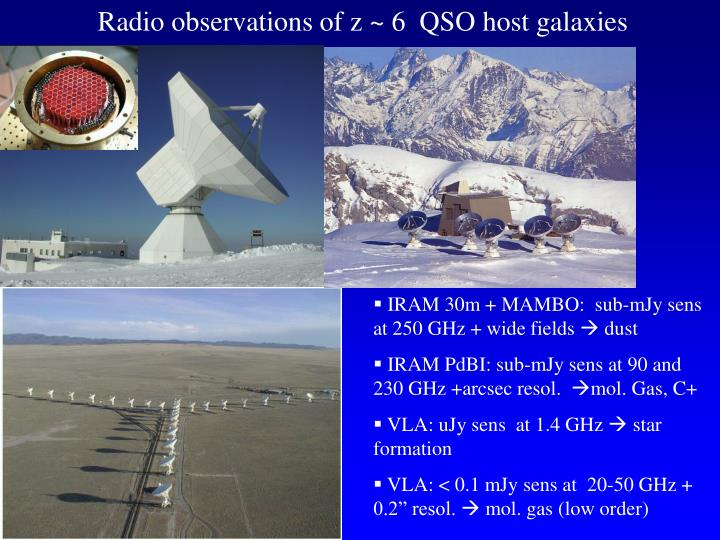 Radio observations of z ~ 6  QSO host galaxies