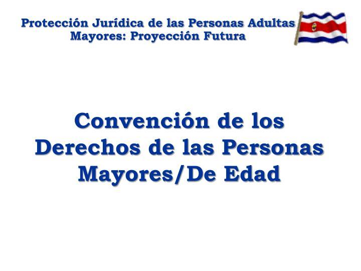 Protección Jurídica de las Personas Adultas Mayores: Proyección Futura