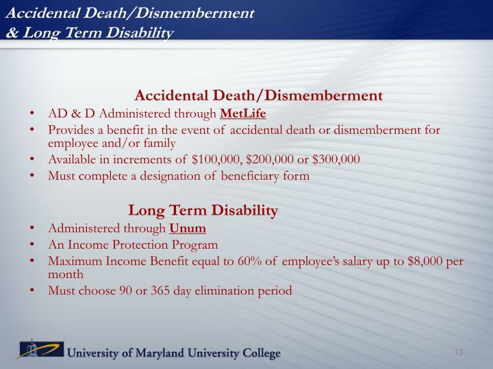 Accidental Death/Dismemberment