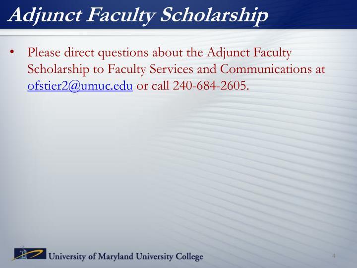 Adjunct Faculty Scholarship