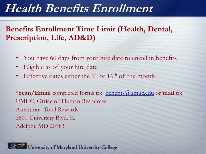 Health Benefits Enrollment