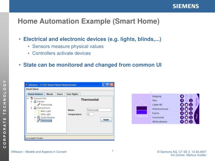 Home Automation Example (Smart Home)
