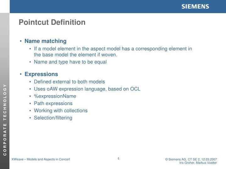 Pointcut Definition