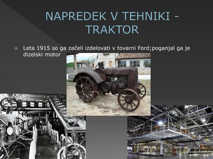 NAPREDEK V TEHNIKI - TRAKTOR