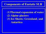 components of eustatic slr