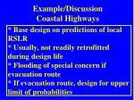 example discussion coastal highways