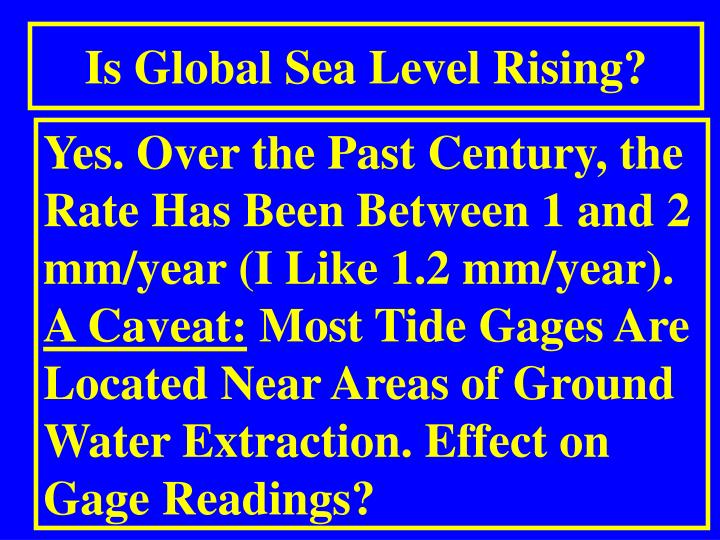 Is Global Sea Level Rising?