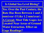 is global sea level rising