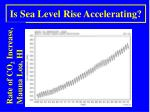 is sea level rise accelerating