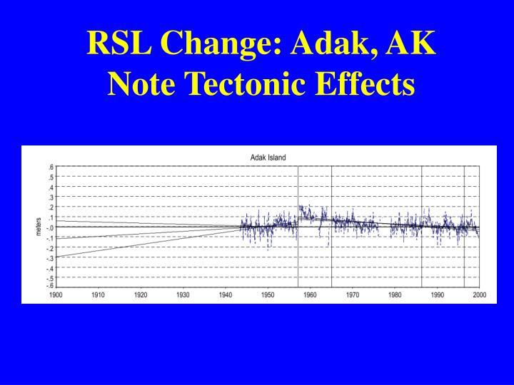 RSL Change: Adak, AK